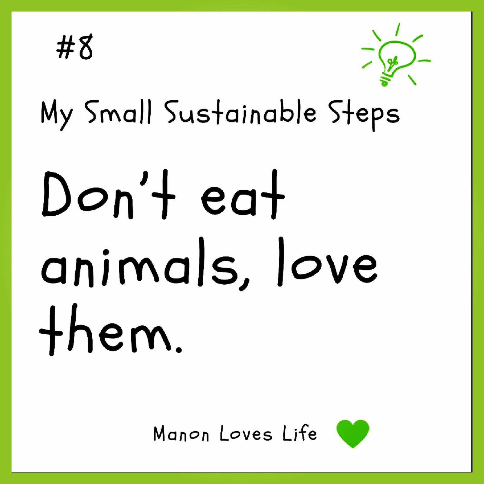 Eet geen dieren