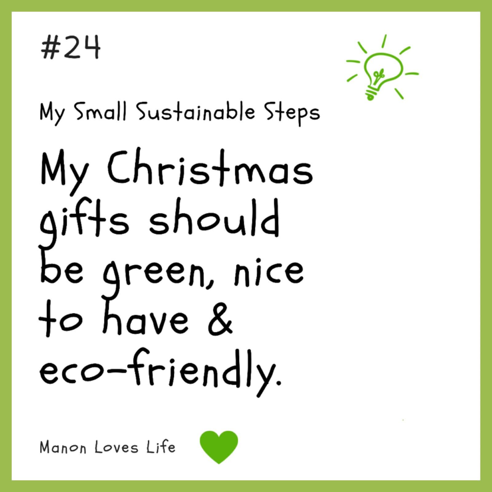 Ecologische kerstcadeaus