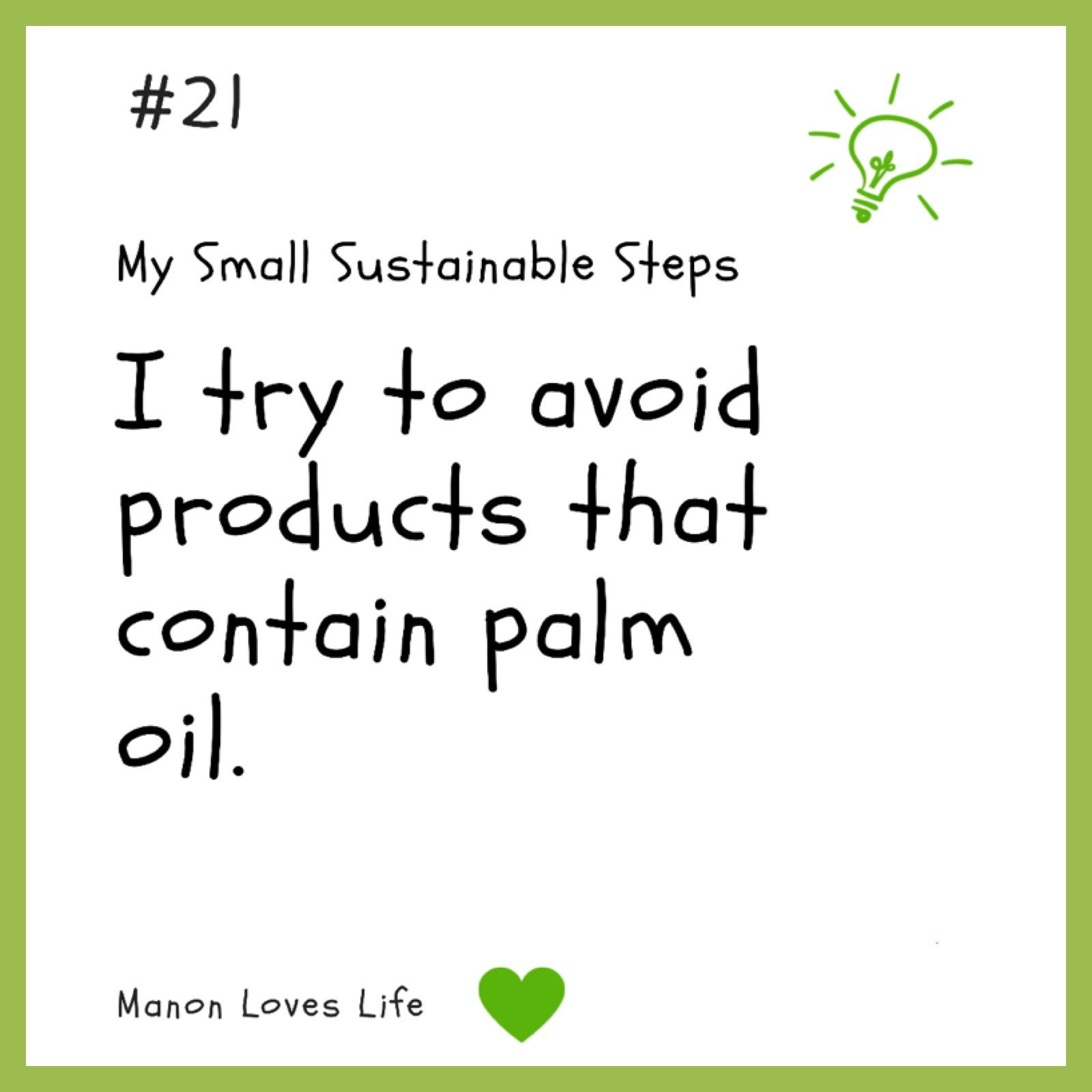 Geen producten kopen met palmolie
