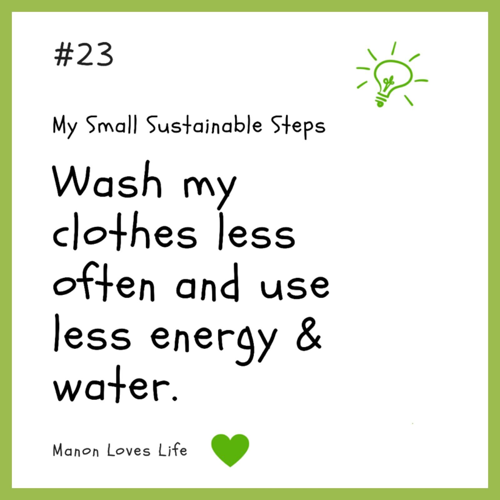 Kleren minder vaak wassen